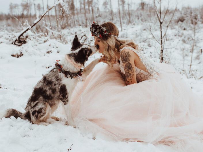 Tierisches Brautshooting